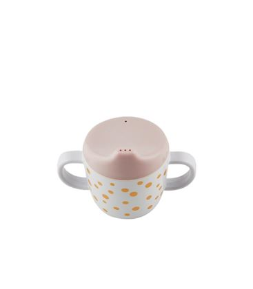 TAZA CON ADAPTADOR HAPPY DOTS GOLD/POWDER - 10701