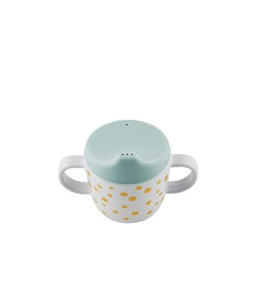 TAZA CON ADAPTADOR HAPPY DOTS GOLD/BLUE - 10702