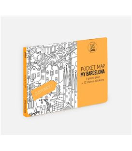 OMY POCKET MAP BARCELONA - BARCELONE-POCKET-MAPS-