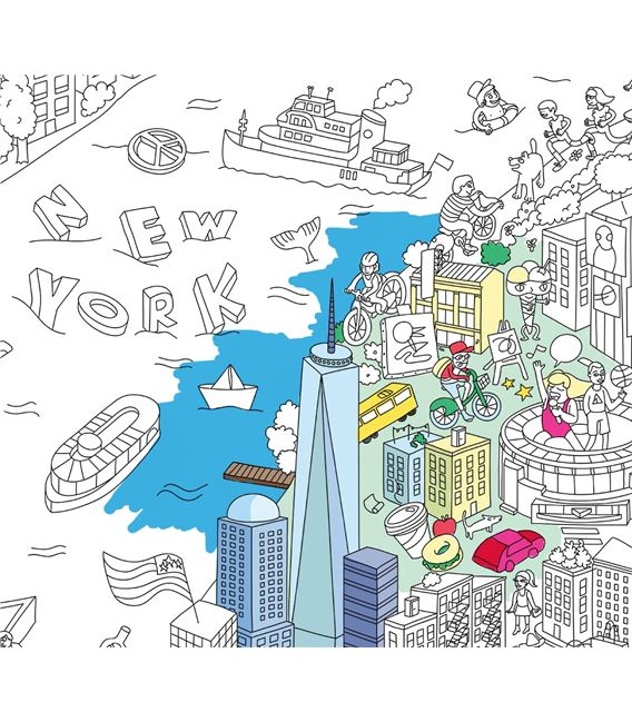 OMY POSTER DESPLEGABLE NEW YORK - NEW-YORK-POSTER-COLORIAGE(1)