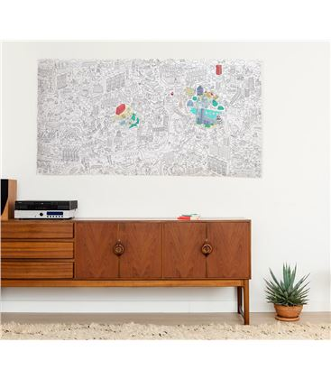 OMY POSTER ENROLLABLE LONDRES GIGANTE XXL - LONDON-COLORIAGE-XXL-