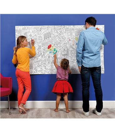 OMY POSTER ENROLLABLE LONDRES GIGANTE XXL - LONDON-COLORIAGE-XXL-()