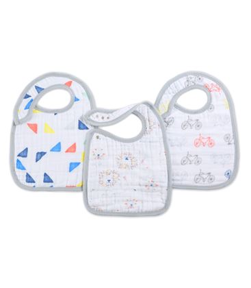 PACK 3 BABEROS LEADER OF THE PACK - 7123_1-CLASSIC-SNAP-BIB-LEADER-OF-THE-PACK