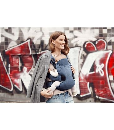 MOCHILA PORTABEBE BABYBJORN ONE CLASSIC DENIM AZUL MEDIANOCHE COTTON MIX 18 - BABY-CARRIER-ONE-2018-DENIM-AZUL