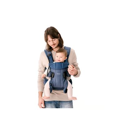 MOCHILA PORTABEBE BABYBJORN ONE CLASSIC DENIM AZUL MEDIANOCHE COTTON MIX 18 - PORTABEBE-ONE2018