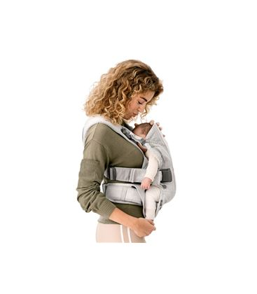 MOCHILA PORTABEBE BABYBJORN ONE AIR PLATA MESH 2018 - BABY-CARRIER-ONE-AIR-2018-SILVER-MESH-BABY2