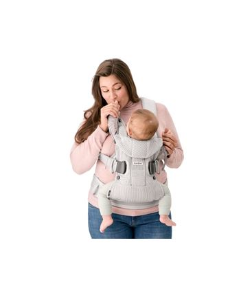 MOCHILA PORTABEBE BABYBJORN ONE AIR PLATA MESH 2018 - BABY-CARRIER-ONE-AIR-2018-FRONT-INSIDE