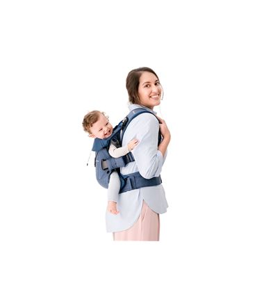 MOCHILA PORTABEBE BABYBJORN ONE CLASSIC DENIM AZUL MEDIANOCHE COTTON MIX 18 - PORTABEBE-ONE2018-2