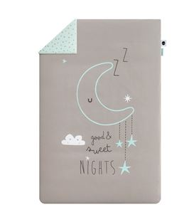 FUNDA NORDICA+ FUNDA ALMOHADA 60x120 100X135 SWEET NIGHTS MENTA - FUNDA-NORDICA-SNMINT