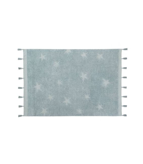 ALFOMBRA HIPPY STARS AQUA BLUE - ALFOMBRA-HIPPY-STARS-AQUA-AZUL-1_L