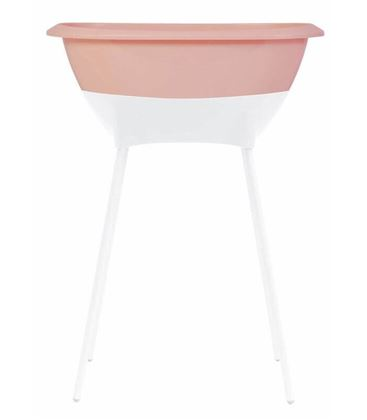 SET BAÑERA BEBÉ LUMA ROSA CLOUD PINK CON ASIENTO - SET-CLOUD-PINK