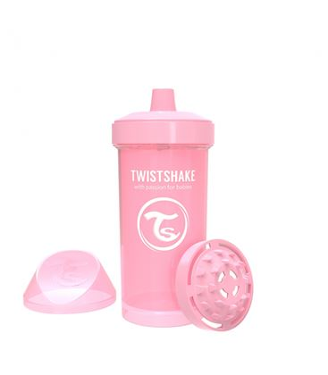 TWISTSHAKE KID CUP 360ML 12+ PASTEL ROSA - VASO-ROSA-360