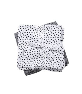 PACK 2 MUSELINAS 70X70 HAPPY DOTS GREY - 30699
