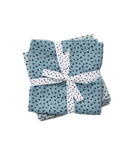 PACK 2 MUSELINAS 70X70 HAPPY DOTS BLUE - 30698