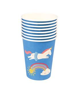 SET 8 VASOS PAPEL MAGICAL UNICORN - SET-8-VASOS-PAPEL-MAGICAL-UNICORN