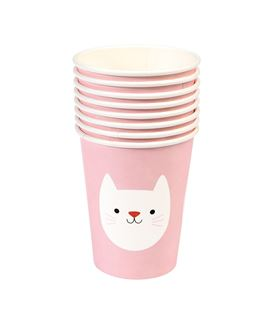 SET 8 VASOS PAPEL COOKIE THE CAT - SET-8-VASOS-PAPEL-COOKIE-THE-CAT