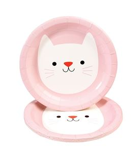 SET 8 PLATOS PAPEL COOKIE THE CAT - SET-8-PLATOS-PAPEL-COOKIE-THE-CAT