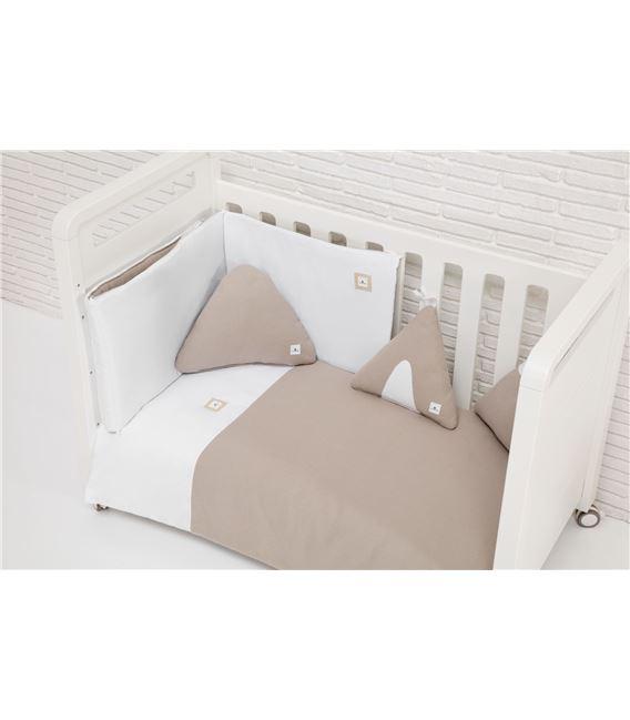 PROTECTOR CUNA 70X140 GRIS ARENA - TEXTILES_INFANTILES_ALONDRA_ARENA