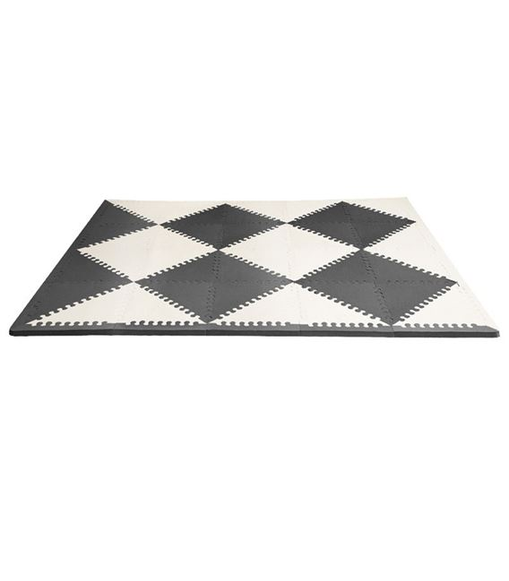 ALFOMBRA PUZZLE SKIP HOP PLAY SPOT BLACK CREAM - PLAYSPOT-BLACK-CREAM-ALFOMBRA-PROTECTORA
