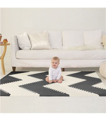 ALFOMBRA PUZZLE SKIP HOP PLAY SPOT BLACK CREAM - PLAYSPOT-BLACK-CREAM-ALFOMBRA-PROTECTORA1