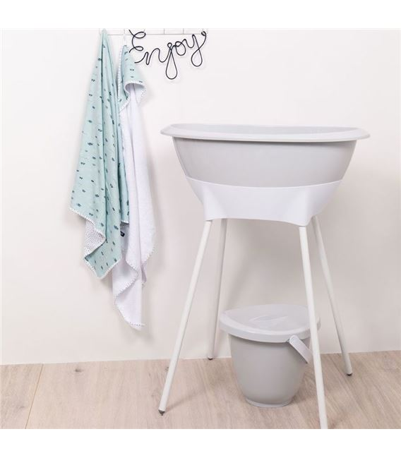 SET BAÑERA LUMA LIGHT GREY CON ASIENTO - LIGHTGREY