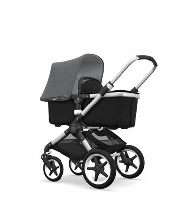 BUGABOO FOX COMPLETO NEGRO GRIS MELANGE - BUGABOO-FOXGRISM