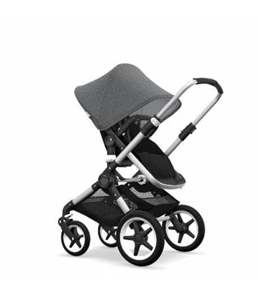 BUGABOO FOX COMPLETO NEGRO GRIS MELANGE - BUGABOO-FOXGRISM1