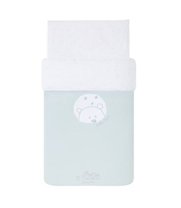FUNDA NORDICA CUNA 60X120 BEAR MINT - LITTTLEBEARMINT