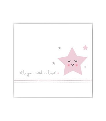 TRIPTICO PUNTO 60X120 LOVE STARS ROSA - LOVESTARS