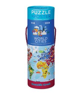 PUZZLE+POSTER 200PC WORLD CITIES - 2874
