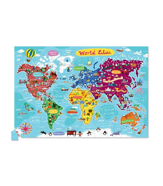 PUZZLE+POSTER 200PC WORLD CITIES - 2874A