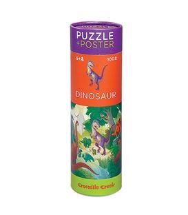 PUZZLE + POSTER DINOSAURIOS 100P - 382875