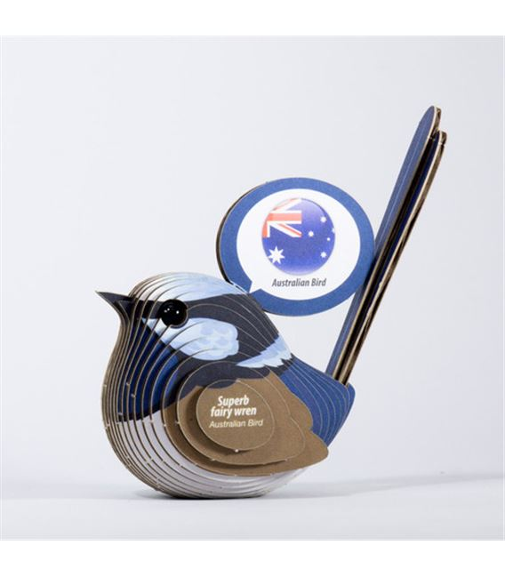 PUZZLE 3D PAJARITO AUSTRALIANO AZUL EUGY DODOLAND - DODOLANDWREN