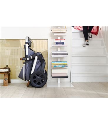 COCHECITO JOOLZ DAY3 COMPLETO QUADRO GRIS N. - JOOLZ_DAY_SUP3__UPRIGHT_STORAGE_LR