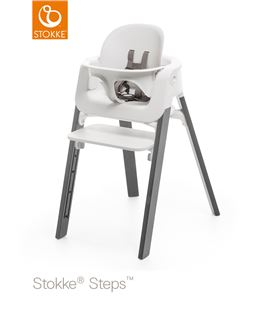 TRONA STOKKE STEPS GRIS TORMENTA CON BABYSET BLANCO - STOKKE-STEPS-STORMGREY