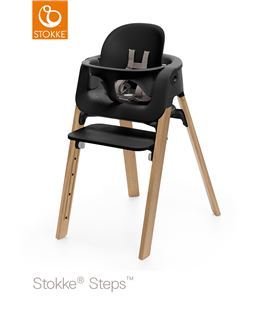 TRONA STOKKE STEPS ROBLE NATURAL CON BABYSET NEGRO - STOKKE-STEPS-OAKBLACK