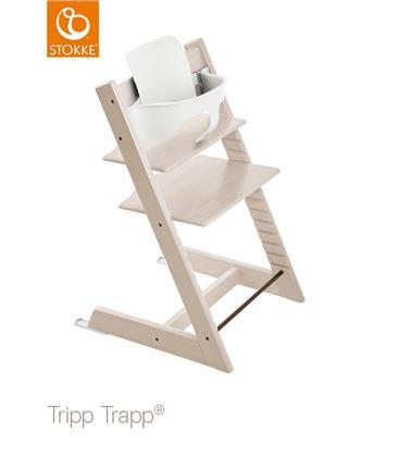 TRONA TRIPP TRAPP BLANQUEADA CON BABYSET - TTWW2