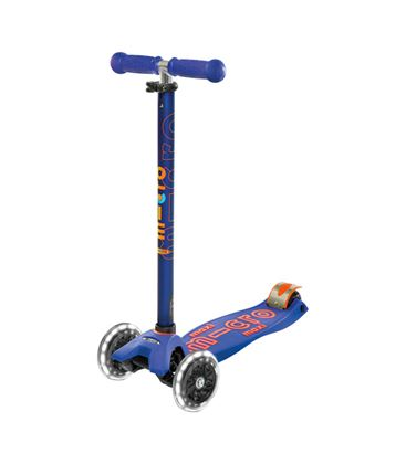PATINETE MAXI MICRO DELUXE AZUL LED - MICROAZULLED