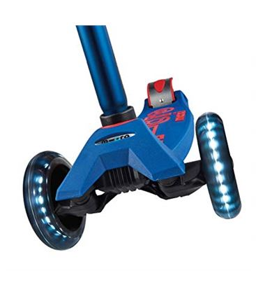PATINETE MAXI MICRO DELUXE AZUL LED - AMICROAZULLED
