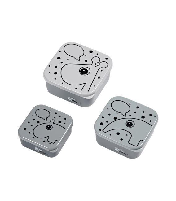 SET 3 SNACK BOX CONTOUR GRIS - TUPPERSGRIS