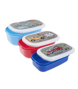 SET 3 TUPPERS SNACK CARS - CARSSNACK
