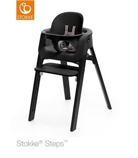 TRONA STOKKE STEPS ROBLE NEGRO CON BABYSET NEGRO - STEPSALLBLACK