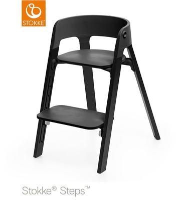 TRONA STOKKE STEPS ROBLE NEGRO CON BABYSET NEGRO - STEPSALLBLACK1