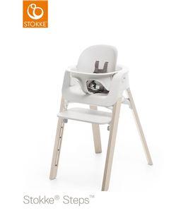 TRONA STOKKE STEPS HAYA WHITEWASH, ASIENTO BLANCO BABYSET BLANCO - STEPSBLANCATOTAL