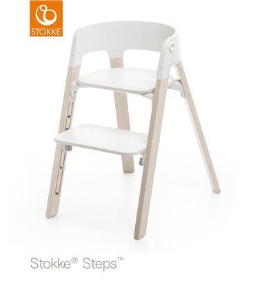 TRONA STOKKE STEPS HAYA WHITEWASH, ASIENTO BLANCO BABYSET BLANCO - SILLASTEPSBLANCA