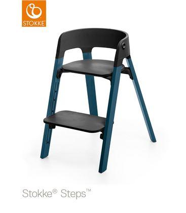 TRONA STOKKE STEPS HAYA MIDNIGHT BLUE, ASIENTO NEGRO BABYSET NEGRO - STEPSSILLAAZULNEGRO