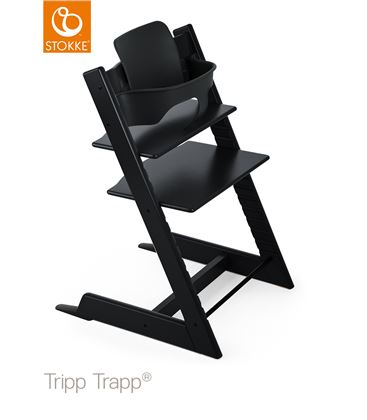 TRONA TRIPP TRAPP NEGRA CON BABYSET - TRONATRIPPTRAPPNEGRA