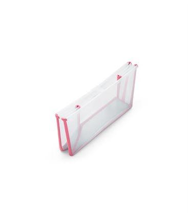 PACK BAÑERA PLEGABLE FLEXI BATH TRANSPARENTE ROSA CON SOPORTE Y TOY CUPS - PACK-FLEXIBATH-TRANSPARENTE-ROSA2