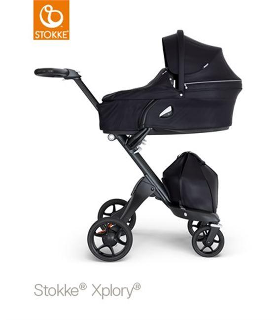 STOKKE XPLORY V6 BLACK CHASIS NEGRO NEGRO - V6004