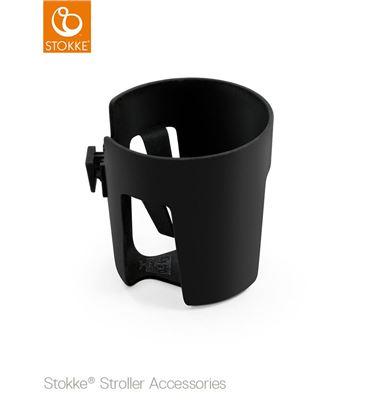 STOKKE XPLORY V6 BLACK MELANGE CHASIS PLATA MARRON - CUPHOLDERXPLORY
